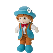 Cotton stuffed, boy shaped doll