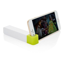 2.200 mAh Power bank with phone stand, black