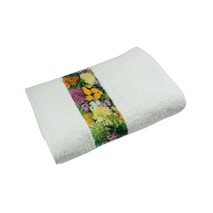 Sophie Muval Towel with polyester border White