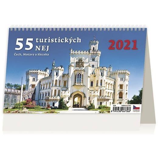 Kalendář 55 turistických nej Čech, Moravy a Slezska