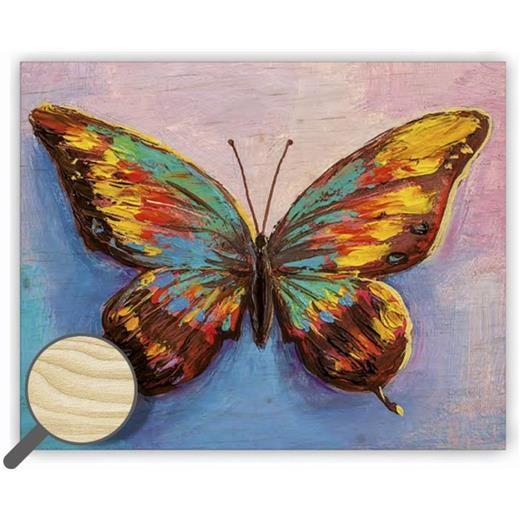 Dřevěný obraz  Butterfly
