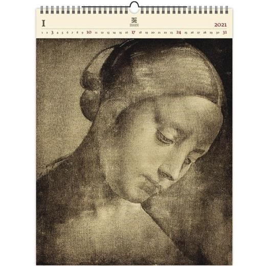 Luxusní dřevěný obrazový kalendář  Da Vinci