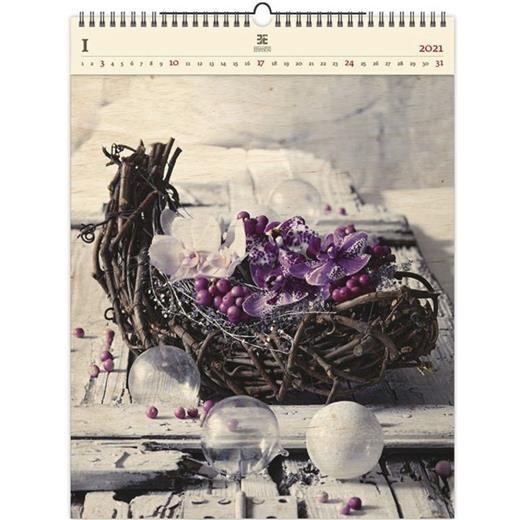 Luxusní dřevěný obrazový kalendář Design