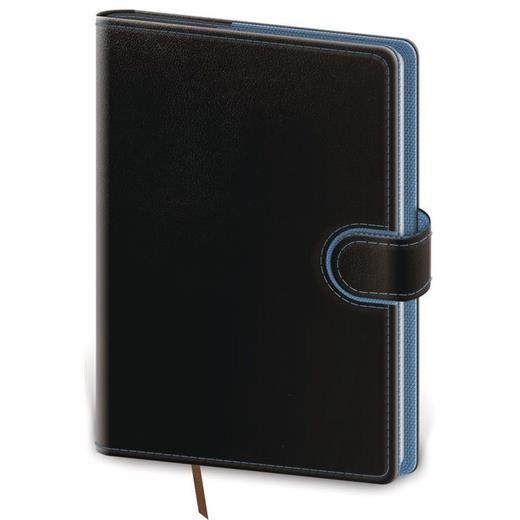 Denní diář A5 Flip černo/modrý