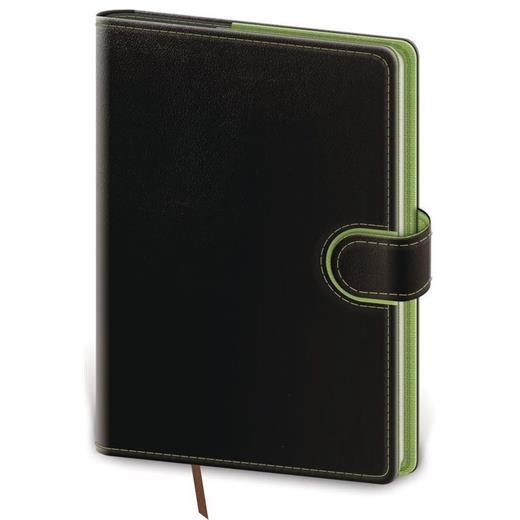 Denní diář A5 Flip černo/zelený