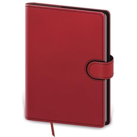Denní diář A5 Flip červeno/černý
