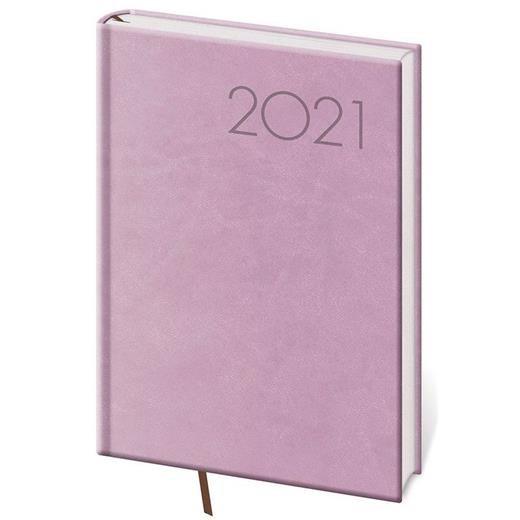 Denní diář A5 Print růžový