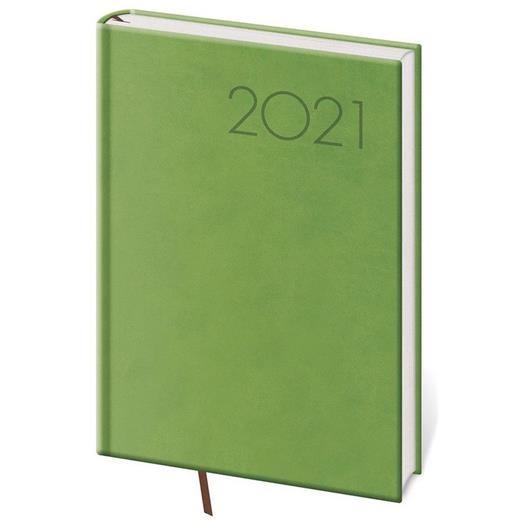 Denní diář A5 Print světle zelený