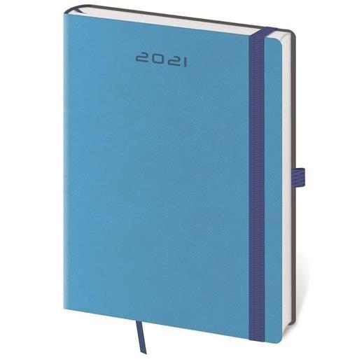 Týdenní diář B6 Flexies modrý s poutkem