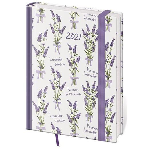 Týdenní diář B6 Vario Lavender s gumičkou