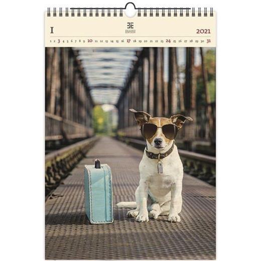 Luxusní dřevěný obrazový kalendář Dog