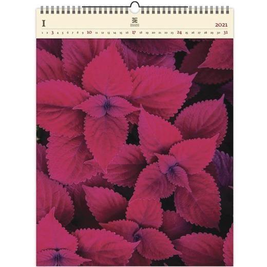 Luxusní dřevěný obrazový kalendář Leaves