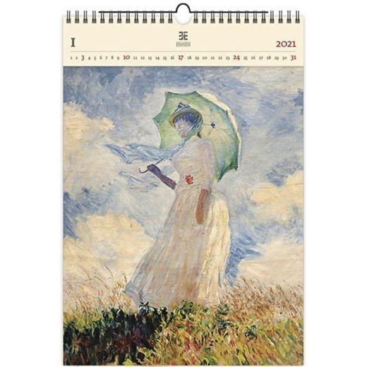 Luxusní dřevěný obrazový kalendář Monet