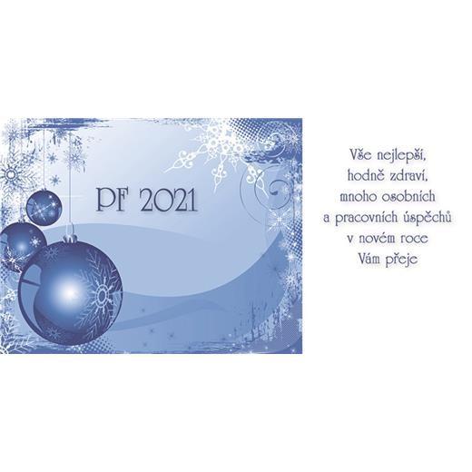 PF - karta s textem na zakázku