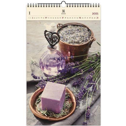 Luxusní dřevěný obrazový kalendář Provence