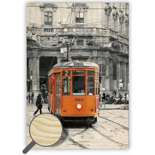 Dřevěný obraz Tram
