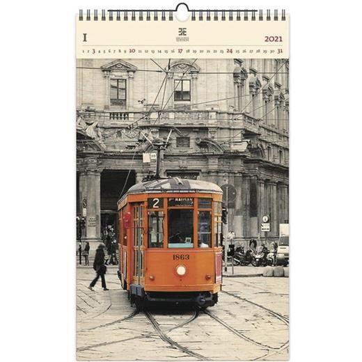 Luxusní dřevěný obrazový kalendář Tram