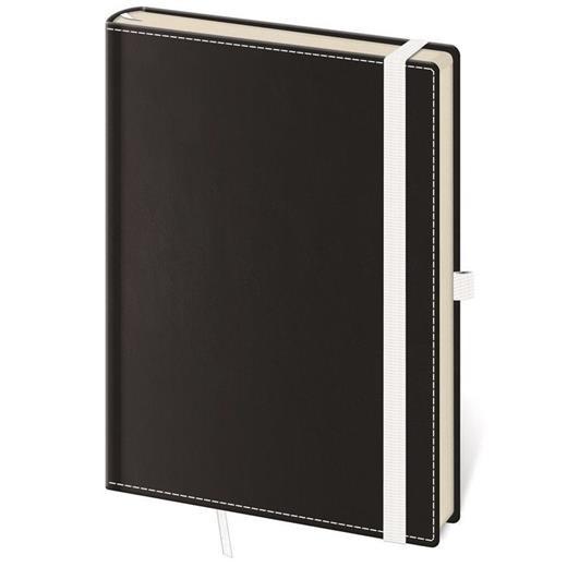 Linkovaný zápisník Black White M