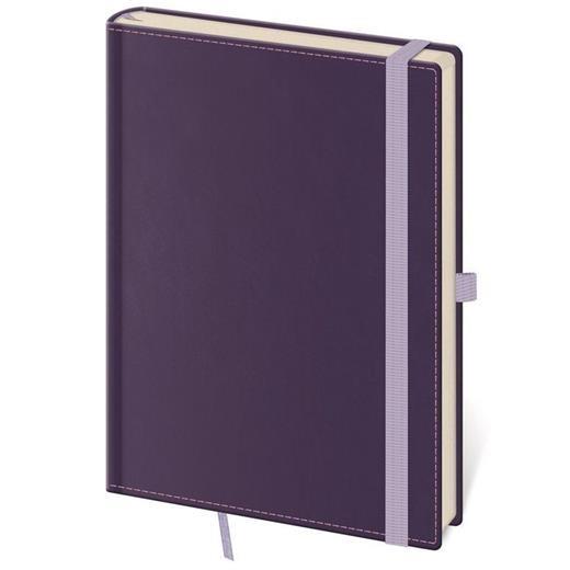 Linkovaný zápisník Double Violet L