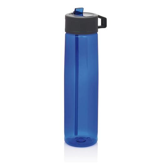 Tritan bottle with straw, transparent