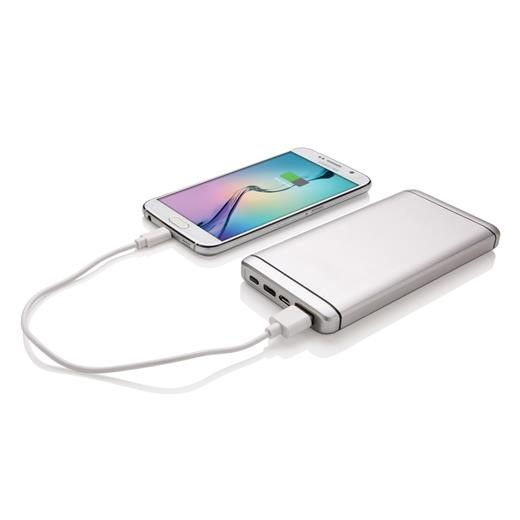10.000 mAh Type C powerbank, silver