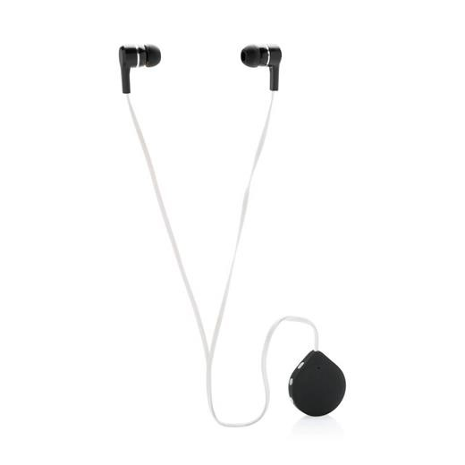 Wireless earbuds with clip, white