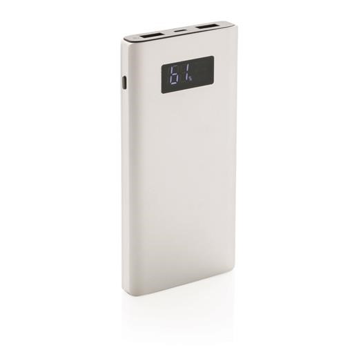 10.000 mAh powerbank with quick charge, silver