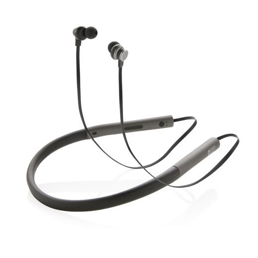 Swiss Peak bass earbuds, grey