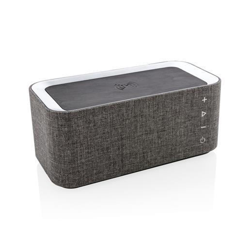 Vogue wireless charging speaker, grey