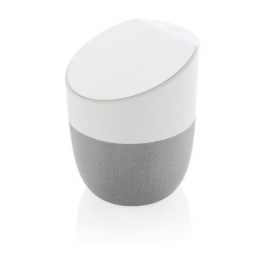 Home speaker with wireless charger, white