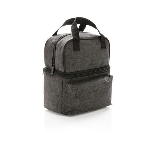 Cooler bag with 2 insulated compartments, anthracite