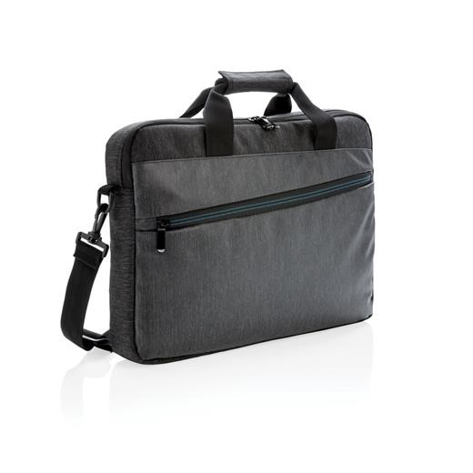 900D laptop bag PVC free, black