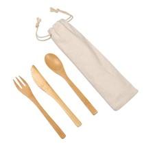 Bamboo cutlery set NATURAL TRIP