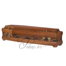 Coffin M184 - carved