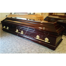 Coffin M400 burgundy semi-sarcophagus