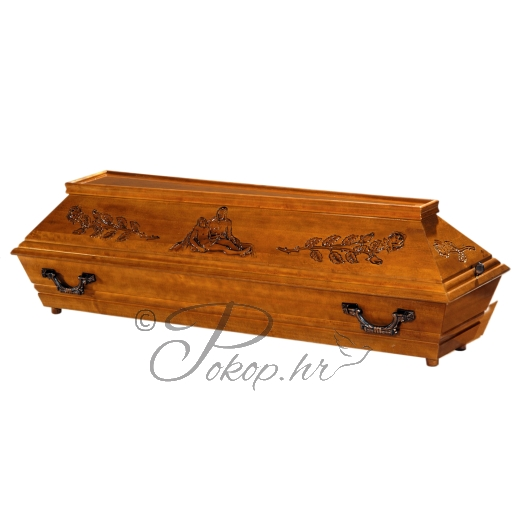 Coffin M125 - shape of Virgin Mary