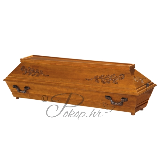 Coffin M126 - carved roses