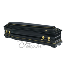 Coffin M195 - semi-sarcophagus black