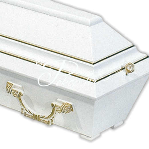 Coffin for children 80 cm white