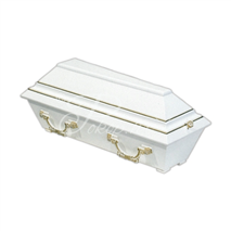 Coffin for children 100 cm white
