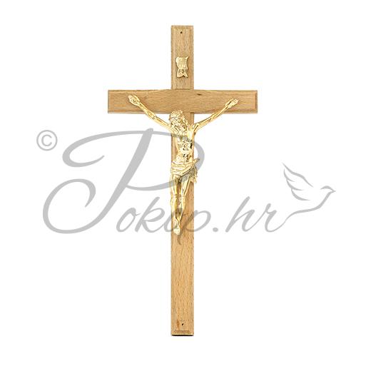 Križić ukrasni drveni svijetli