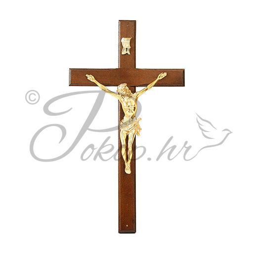 Križić ukrasni drveni tamni V