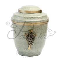 Urn AB 6596 cross and rose