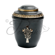 Urn AB 9001 cross and rose
