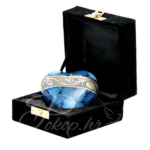 Spomen urna srce AC-05 plavo
