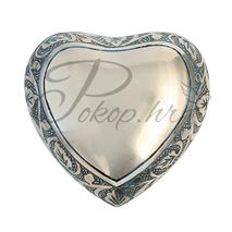 Memorial urn heart blue-silv