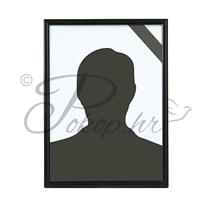 Picture frame PVC 18x24 black